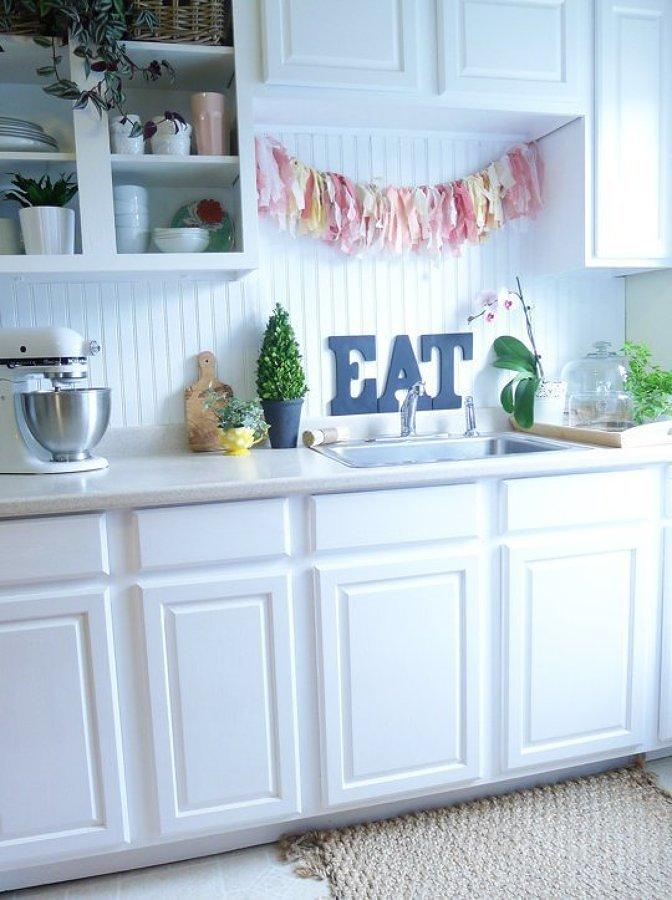 Cocina blanca remodelada