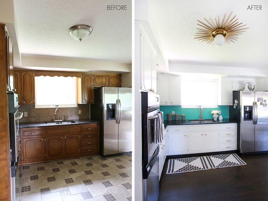 Antes y después cocina