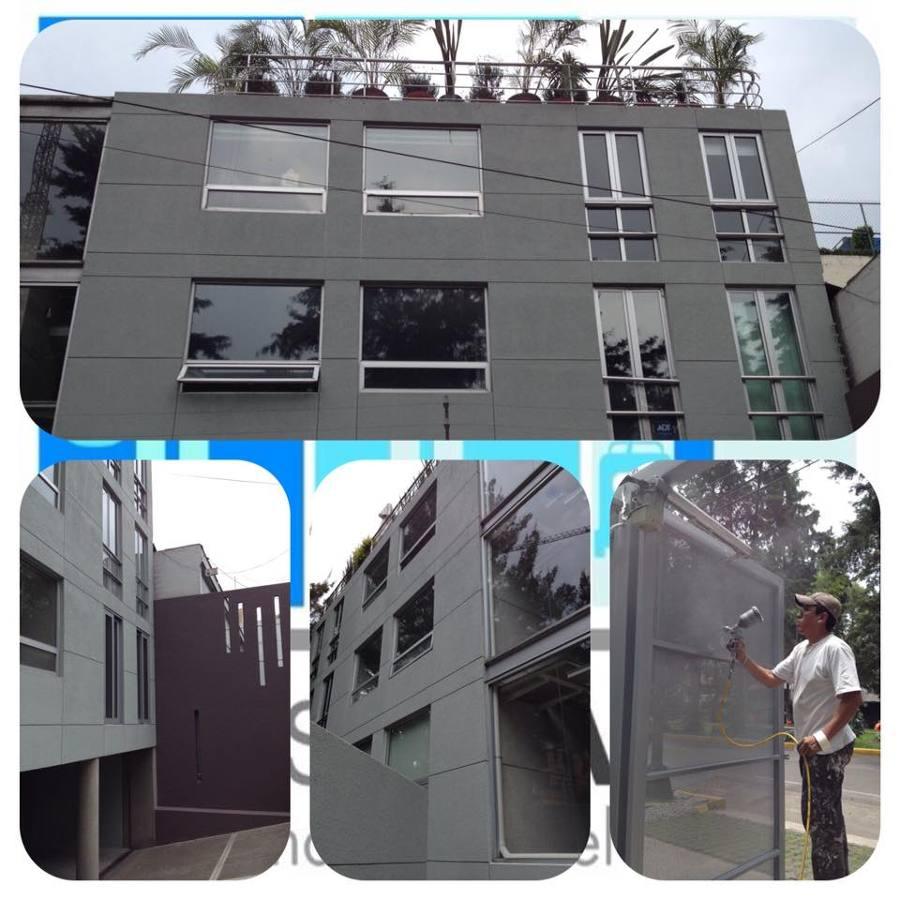 Remodelación de fachada tipo concreto