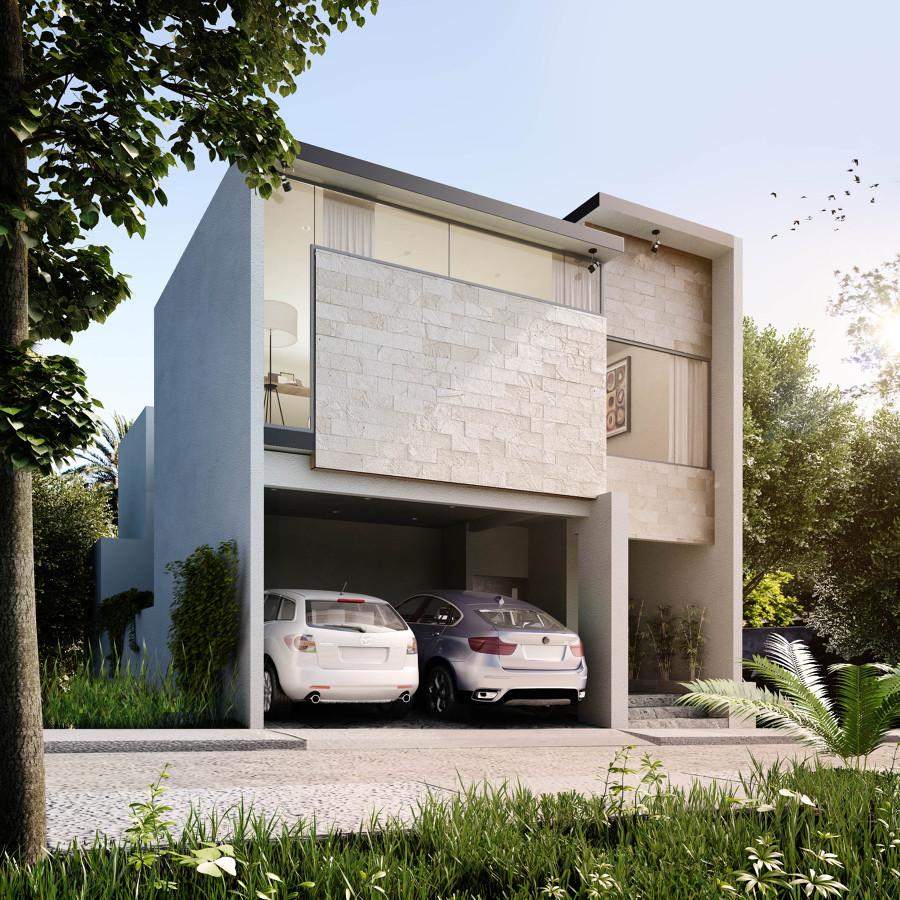 Foto render de la fachada de arsanco 127963 habitissimo for Casas modernas renders