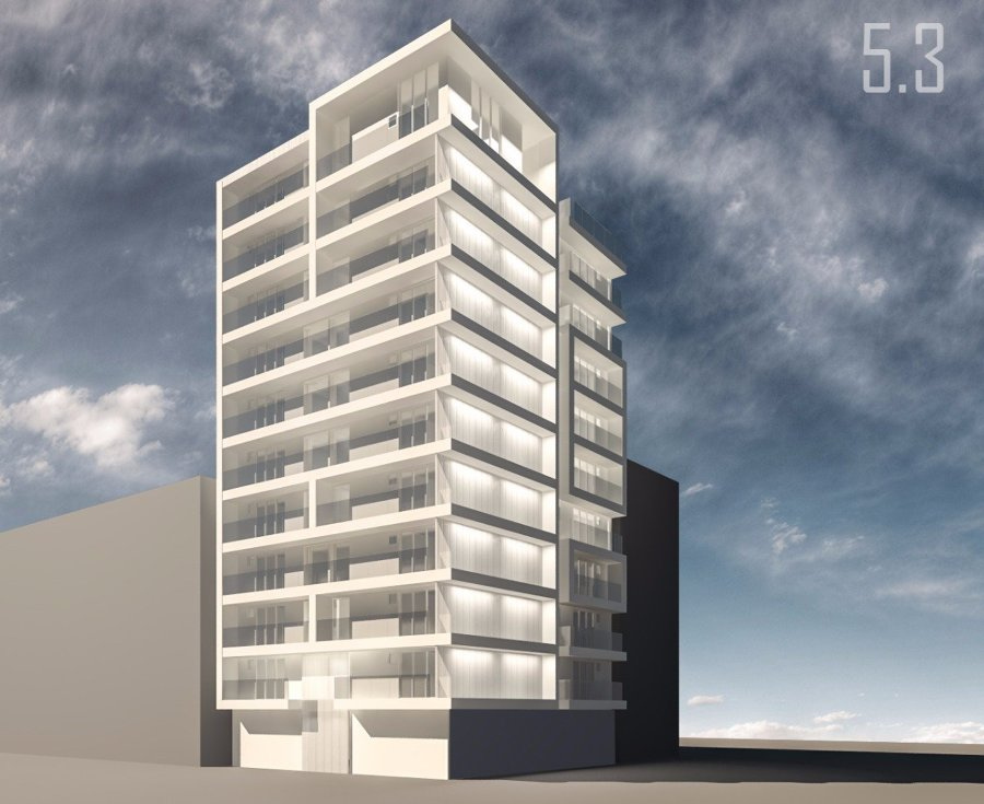 Render del proyecto edificio colonia Roma