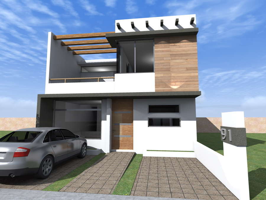 Foto render fachada frontal de hl arquitectura 145689 for Casas modernas renders
