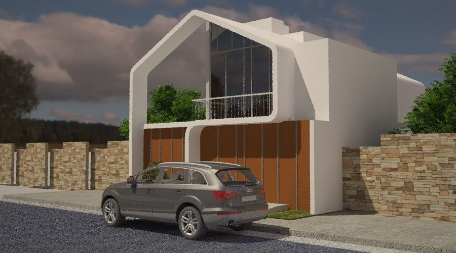 RENDER FACHADA LATERAL