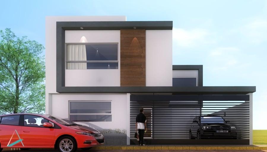 Foto render fachada de aria 81826 habitissimo for Render casa minimalista