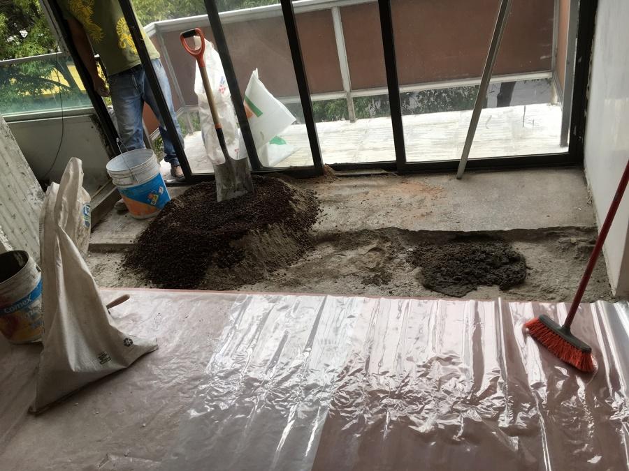Reparación de firme de concreto.