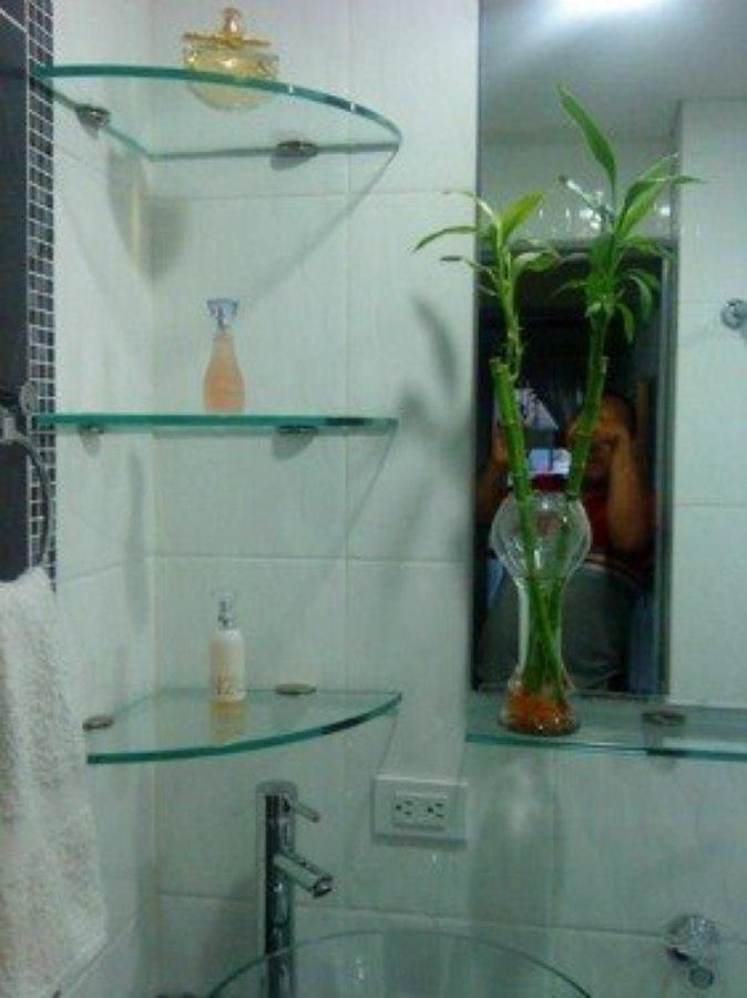 Remodelaciones zona esmeralda ideas canceler a aluminio for Banos con repisas de vidrio