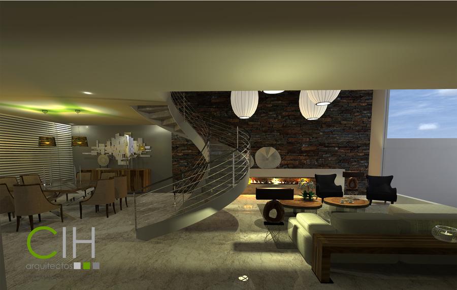 Casa habitaci n tm ideas arquitectos for Ambientacion living comedor