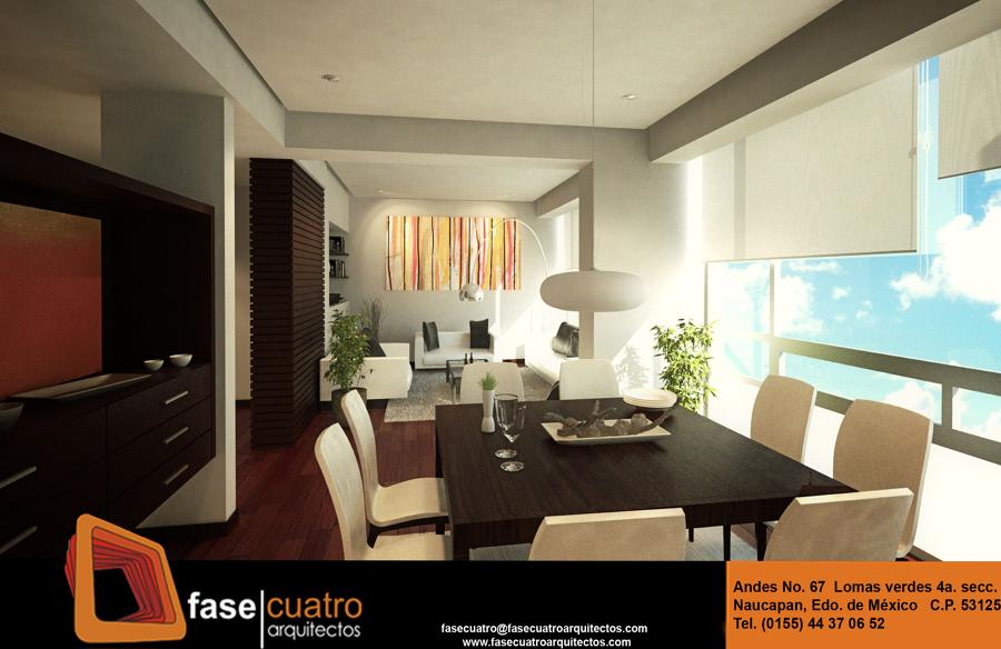 B loft ideas arquitectos for Decoracion de sala comedor de departamento