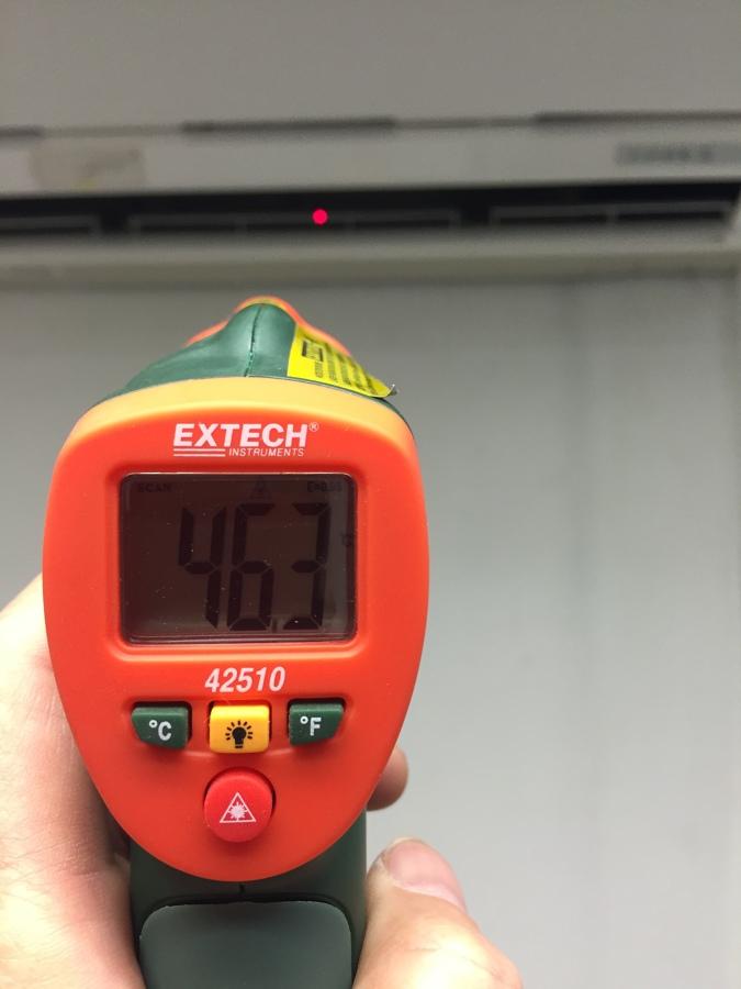 Salida de aire 46 grados centígrados