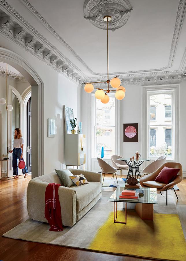 Sala con mezcla de estilos decorativos