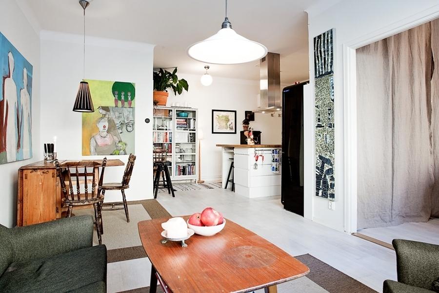 Foto departamento con sala unida a la cocina 258986 for Cocina unida a salon