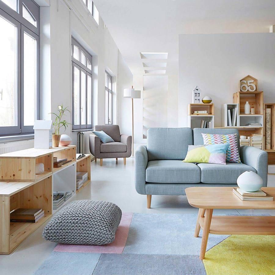 Sala Estilo Nórdico Con Muebles A La Medida