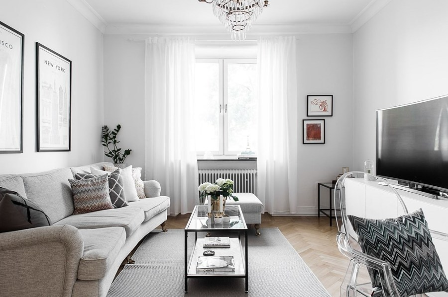 Sala amplia estilo clásico