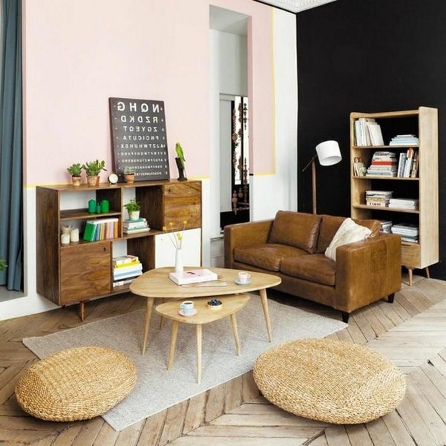 Sala con paredes pintadas