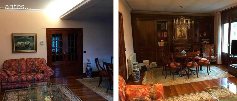 Sala con mobiliario antiguo