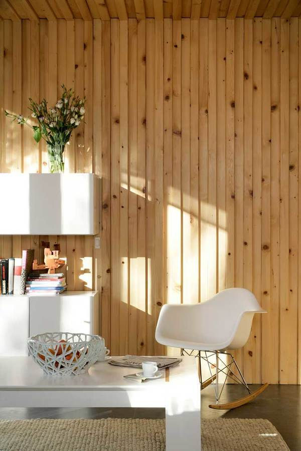 Sala casa prefabricada de madera