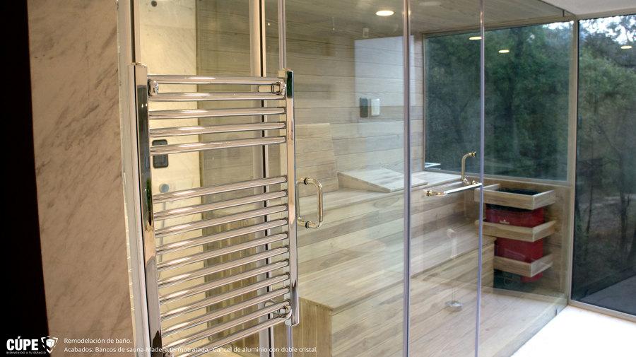 Foto sauna con madera de pino termotratado de c pe - Madera para sauna ...