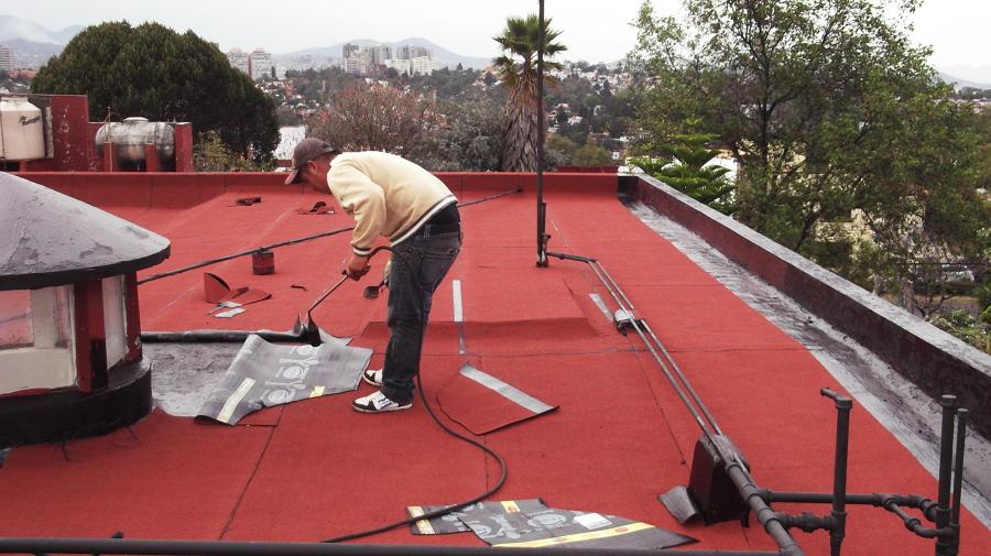 Se impermeabilizo residencia en Tecamachalco con manto prefabricado