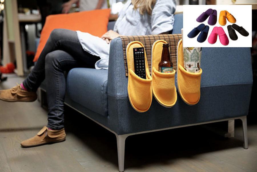 Soporte para sillón con pantuflas