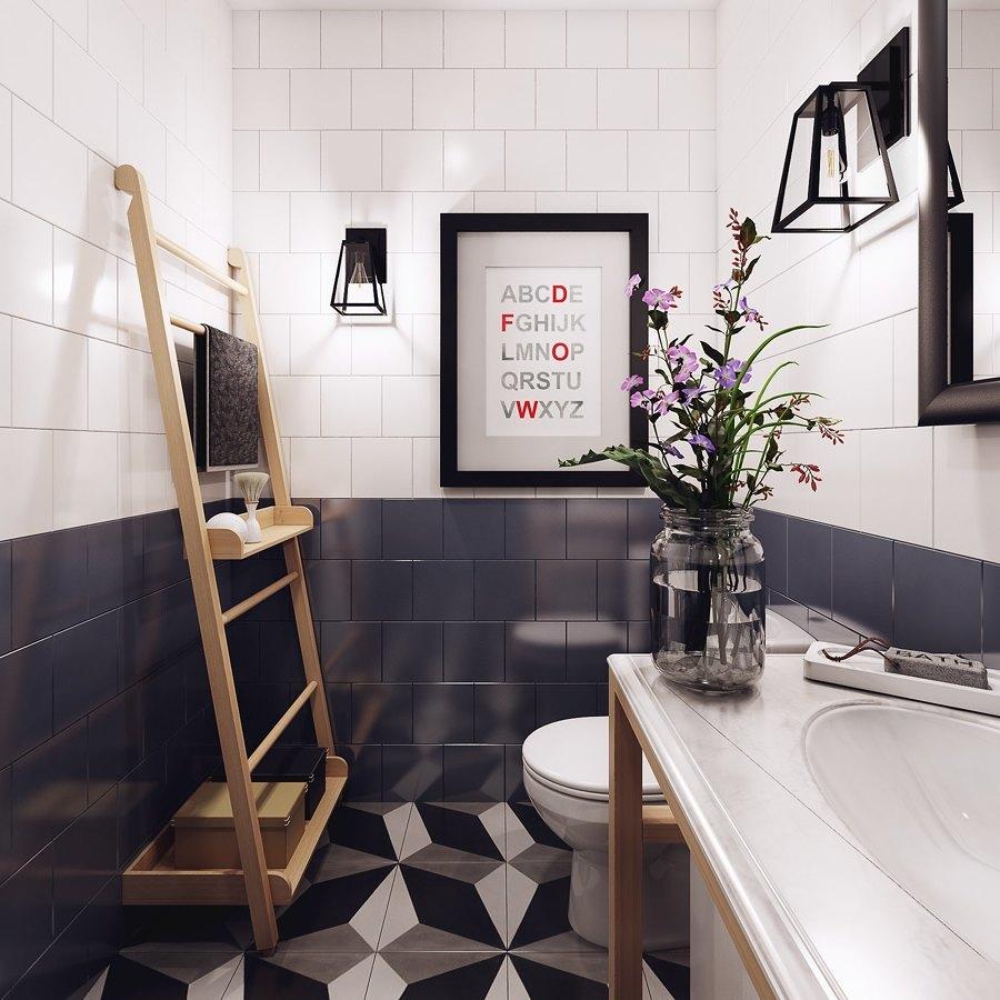 baño con suelo vinílico