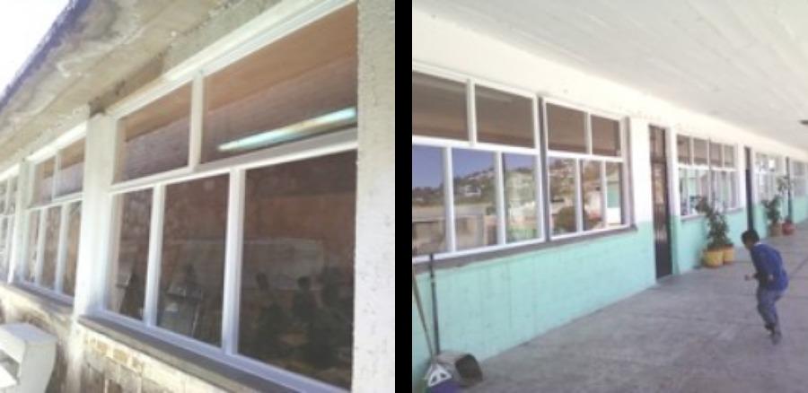 Foto suministro y colocaci n de ventanas de la aluminio for Colocacion de ventanas de aluminio