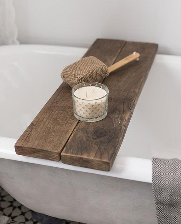 Tabla para apoyar el jabón