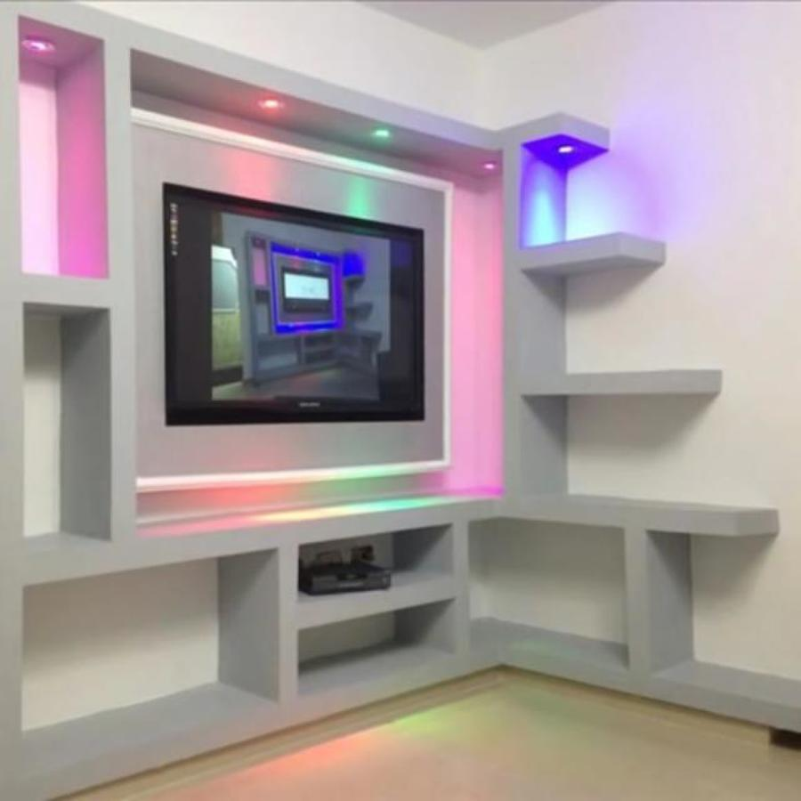 Como hacer un mueble para tv de tablaroca for Muebles para tv en recamara
