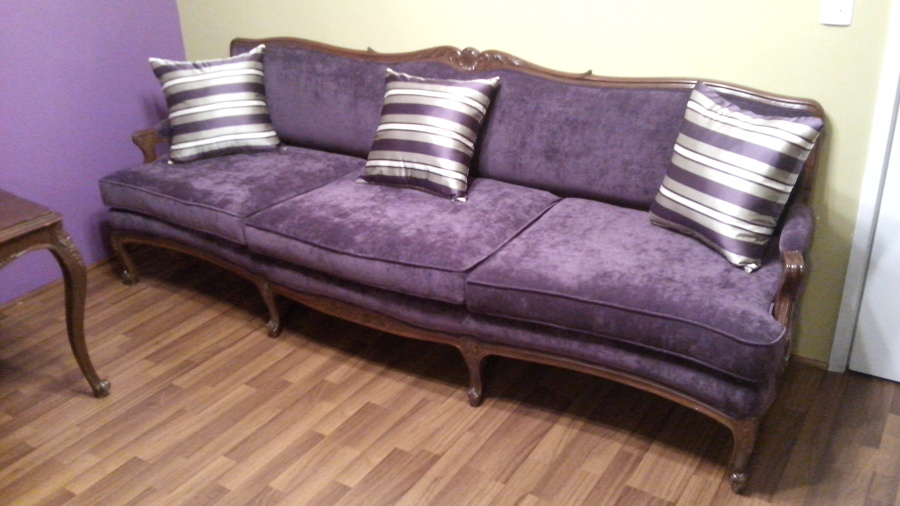 Tapizado de sofá estilo clásico. Lic. Cortez