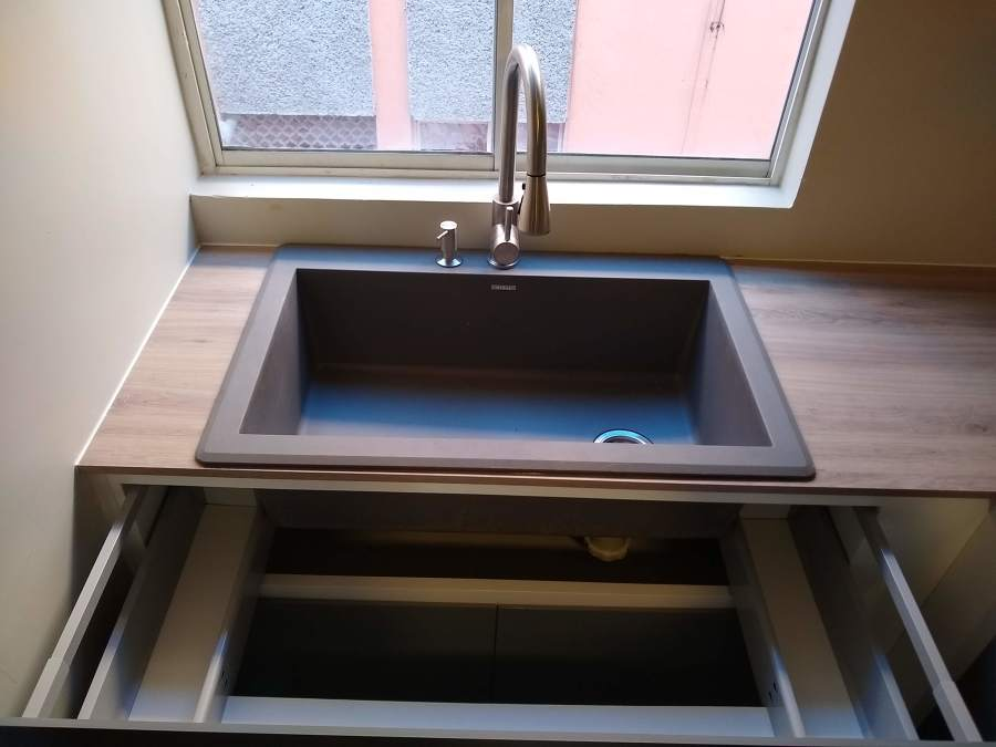 Tarja con sistema box para fregadero