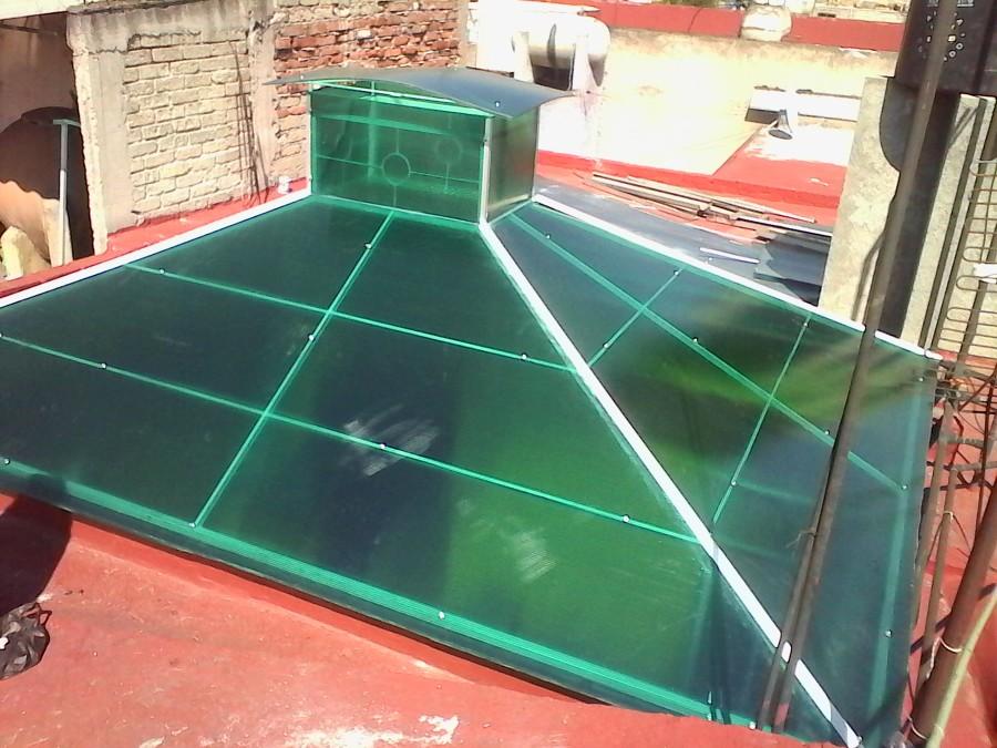 Techos y domos policarbonato celular ideas remodelaci n for Tipos de toldos para terrazas