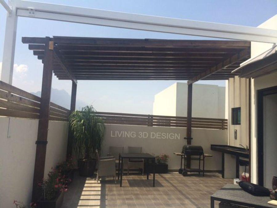 Techo vigas de madera para terraza ideas dise o de - Vigas madera techo ...