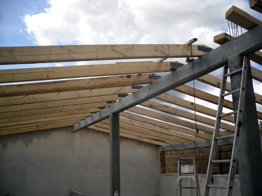 foto tejado para gallera de todo en madera san martin