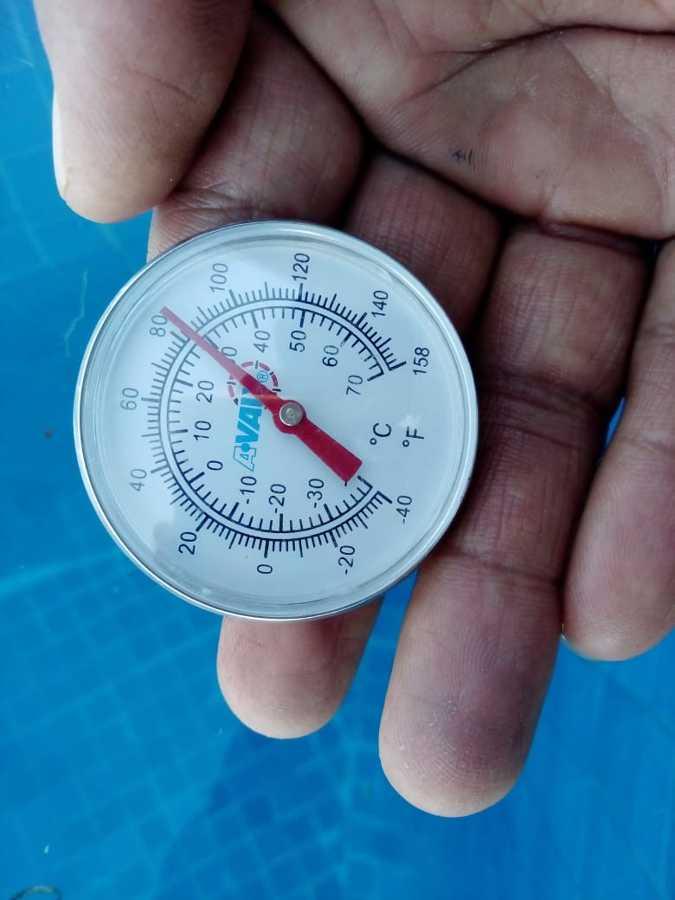Temperatura con colectores solares