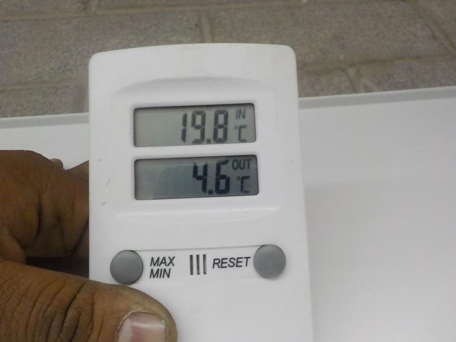 Temperatura de Inyección a 4.6° C