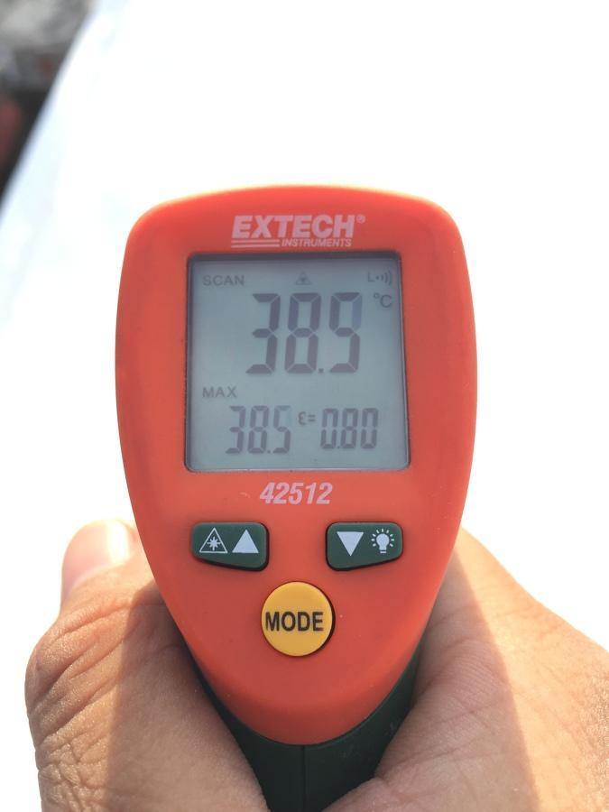 Temperatura despues de aplicacion