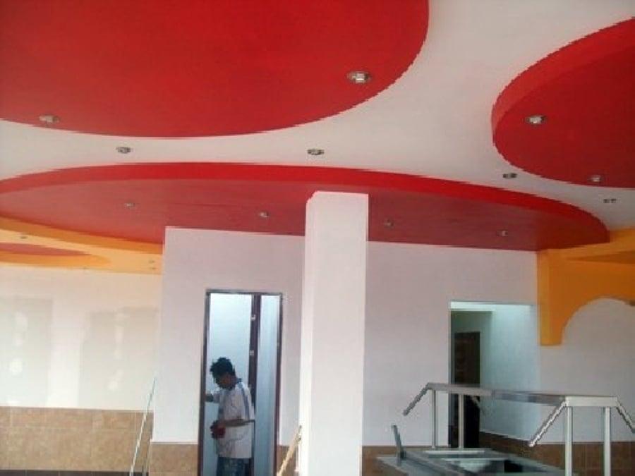 Foto terminacion del trabajo de plafon curvo de valevs for Plafones de pared diseno