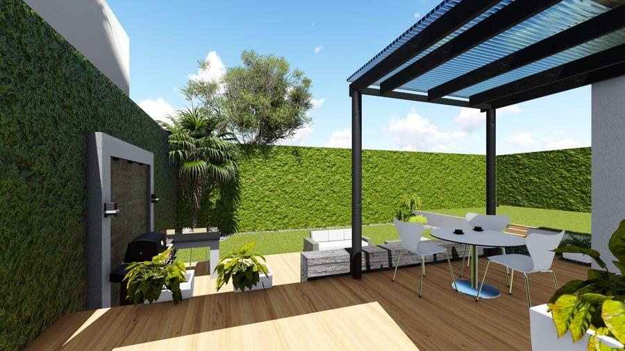 Terraza y asador ideas arquitectos for Terrazas minimalistas fotos