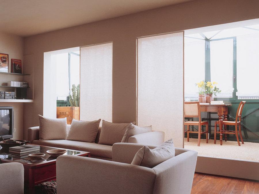 Terraza integrada en la sala