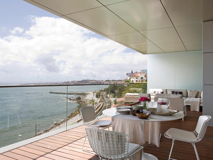 Foto terraza con piso de azulejos de resina 250108 Azulejos para terrazas
