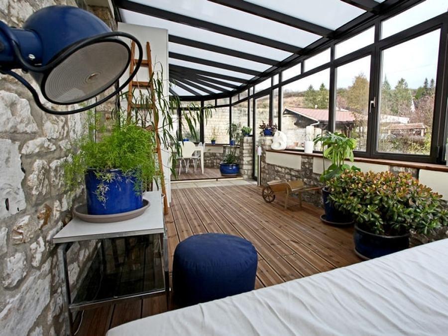 Foto terraza cubierta con ventanas y plantas 204468 - Cubiertas para terrazas ...