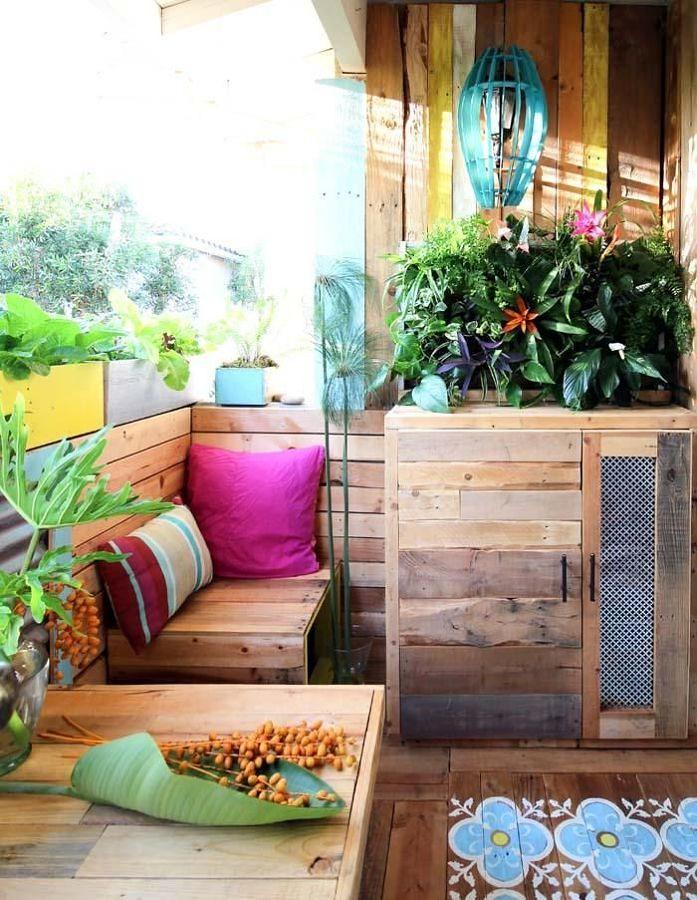 Terraza remodelada estilo boho
