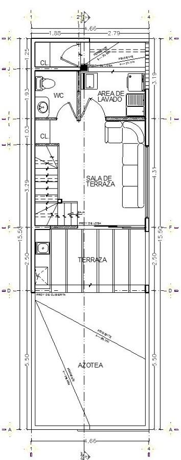 Terraza tercer nivel, estado propuesto