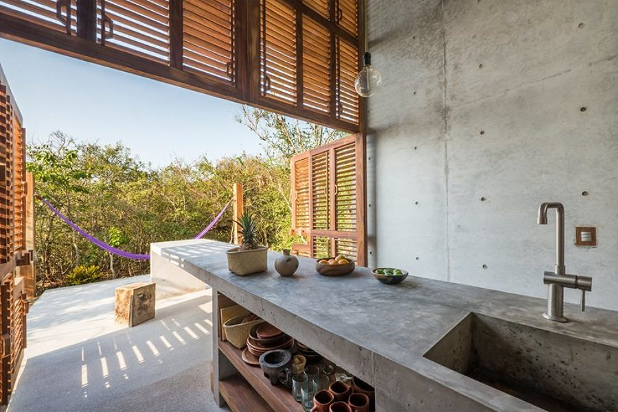 Tiny House fabricada en madera y concreto