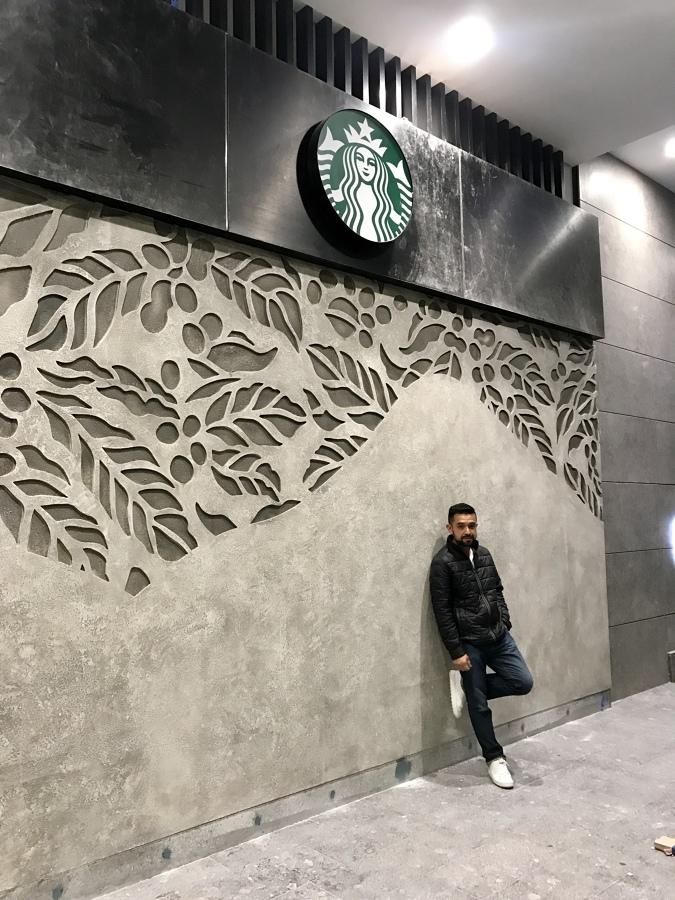 Tipo cemento con diseño en bajo relieve
