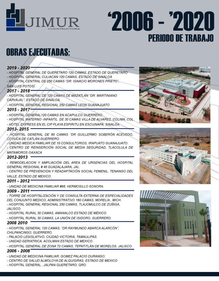 Trabajos del 2006 al 2020