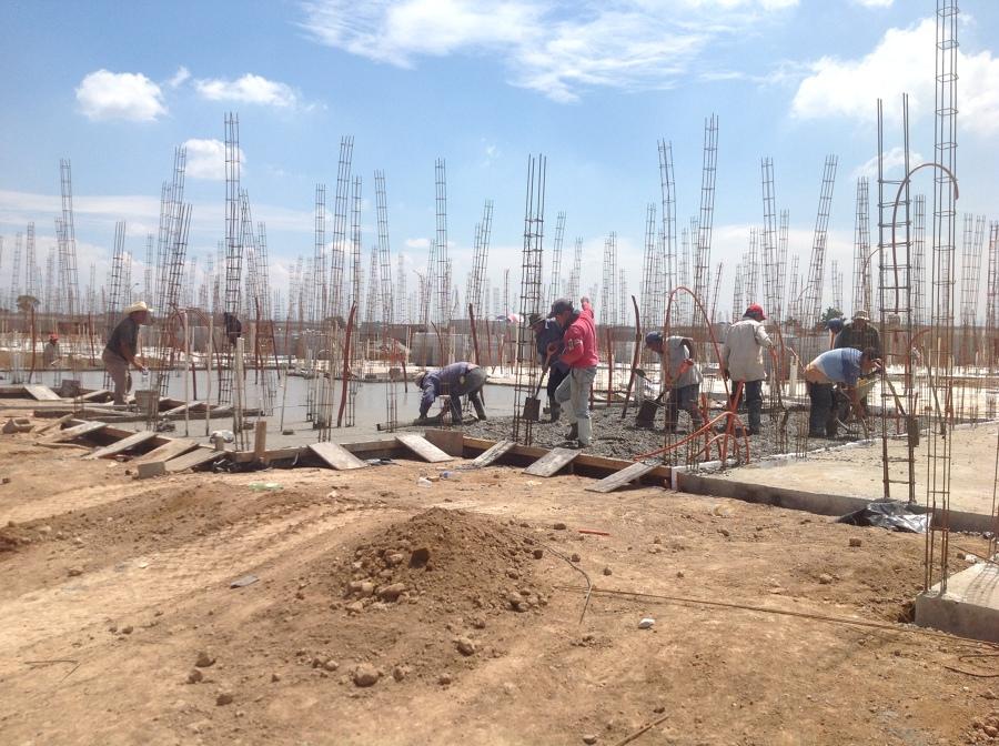 Vaciado de concreto en losa de cimentacion