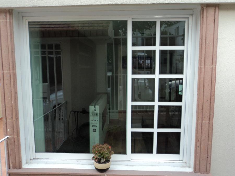 ventana combinada corrediza