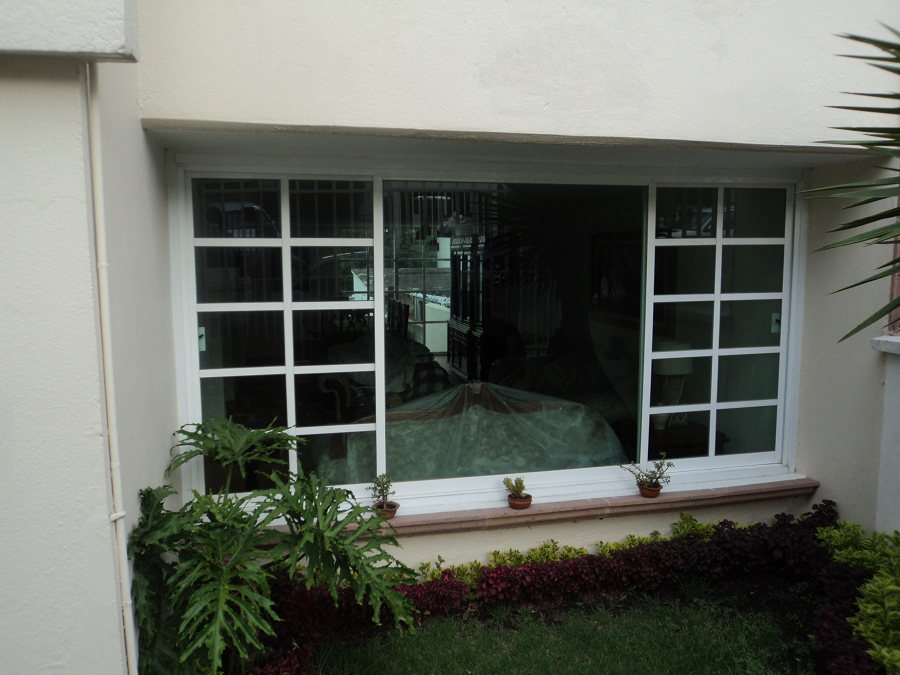"ventana combinada de aluminio blanco de 2 """