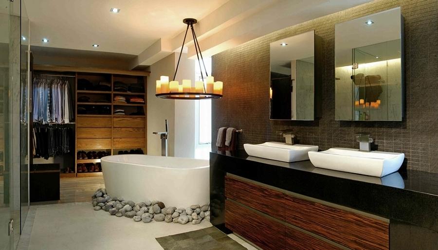 baño masculino con vestidor
