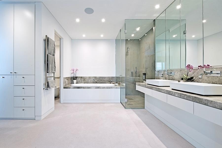 vestidor en baño